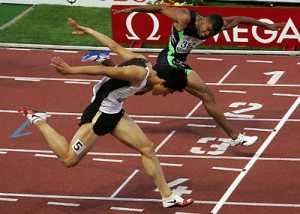 Bruce and I in the olympic race